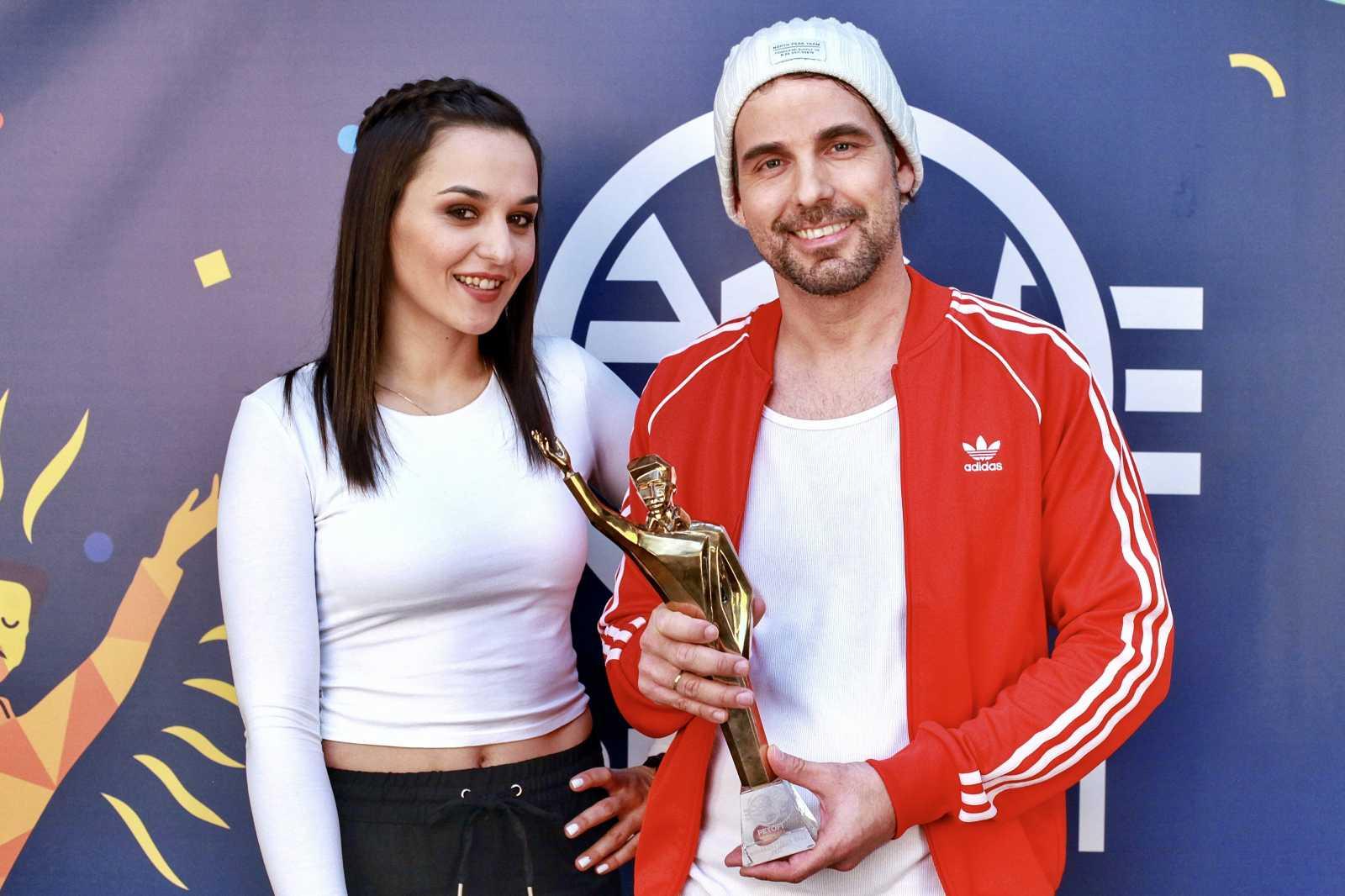 Az év dala kategória győztesei, Rácz Gergő és Orsovai Reni