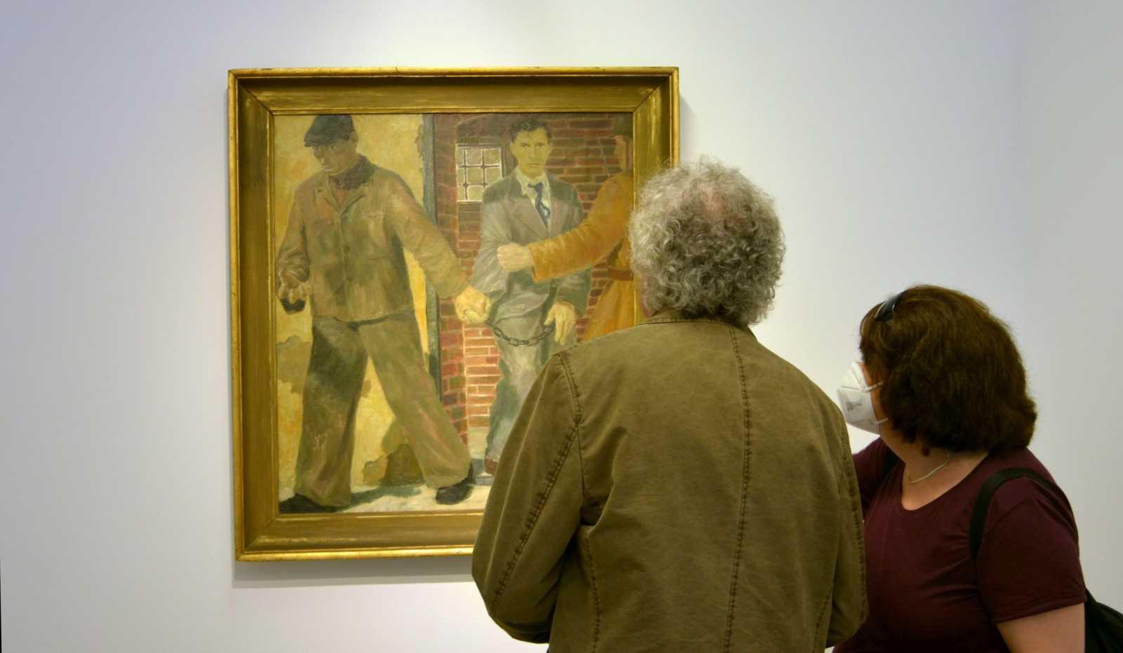 A Józsa Béla című kép Nagy Albert szocreál korszakának jelentős munkája, a kiállításon kiderül egy érdekesség a keletkezéstörténetéről