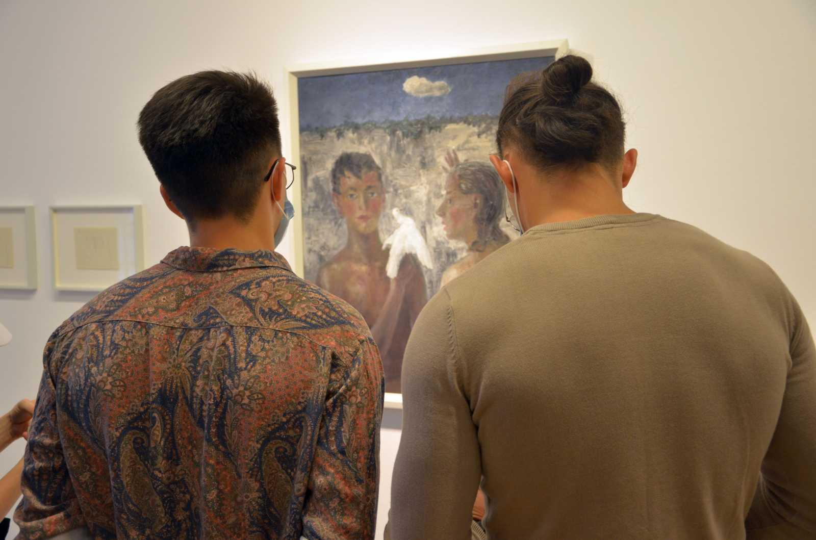 Az Ifjúság II. (1937) Nagy Albert korai olasz festészethez való vonzódását mutatja