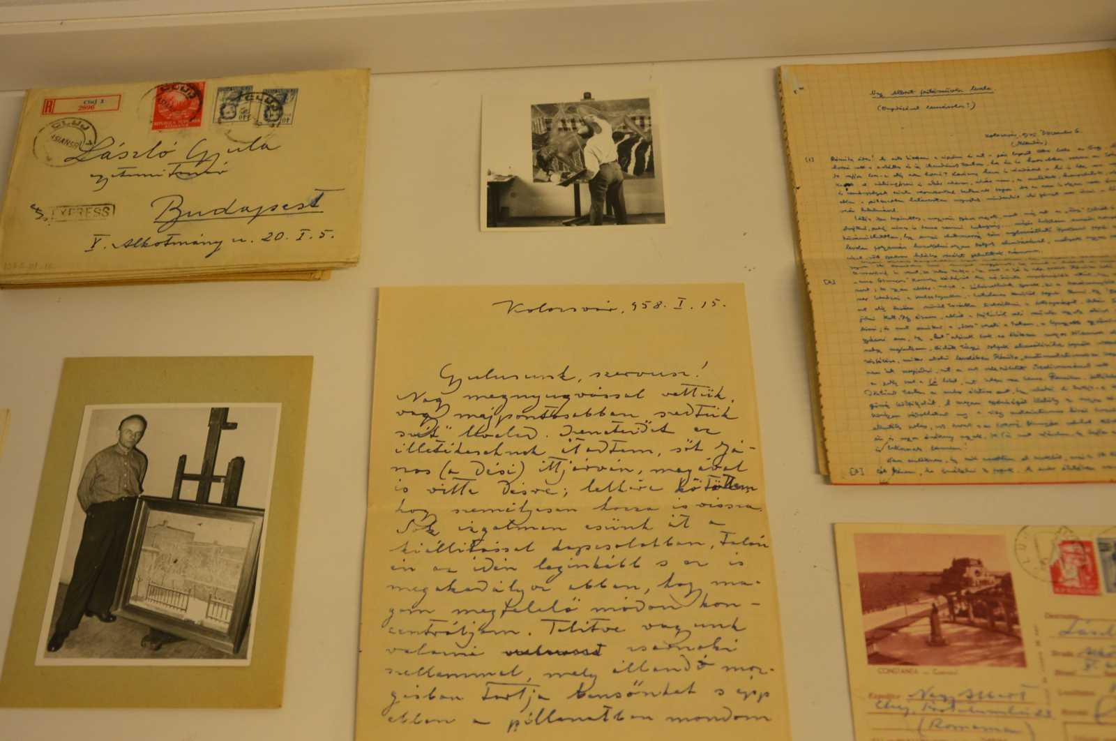 A kiállításon többek között Nagy Albert és László Gyula történész levelezéséből olvashatunk részleteket