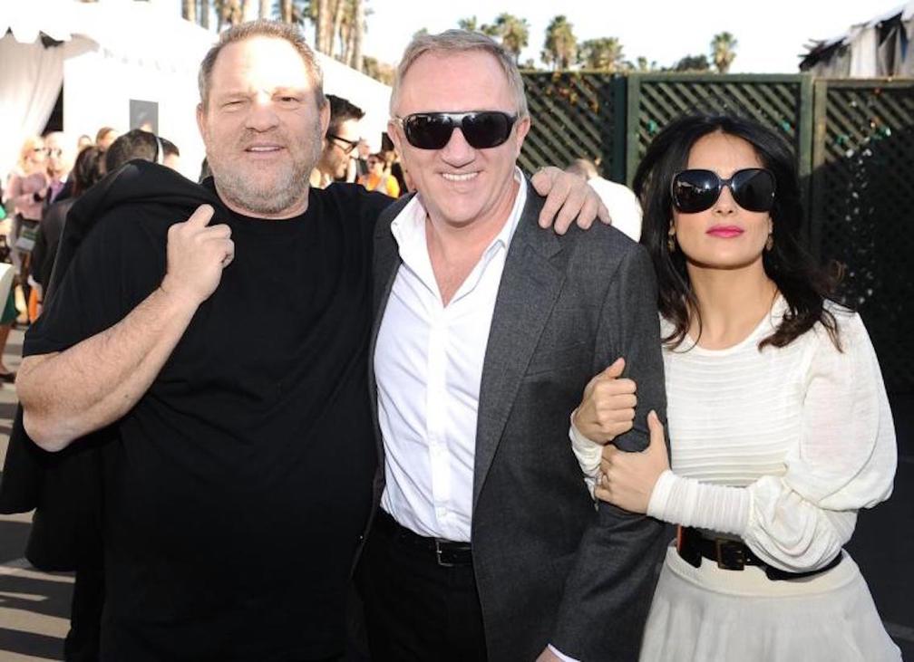 Harvey Weinstein, Francois Pinault (Salma Hayek férje) és Hayek 2013-ban   Fotó forrása: newyorkdailynews.com