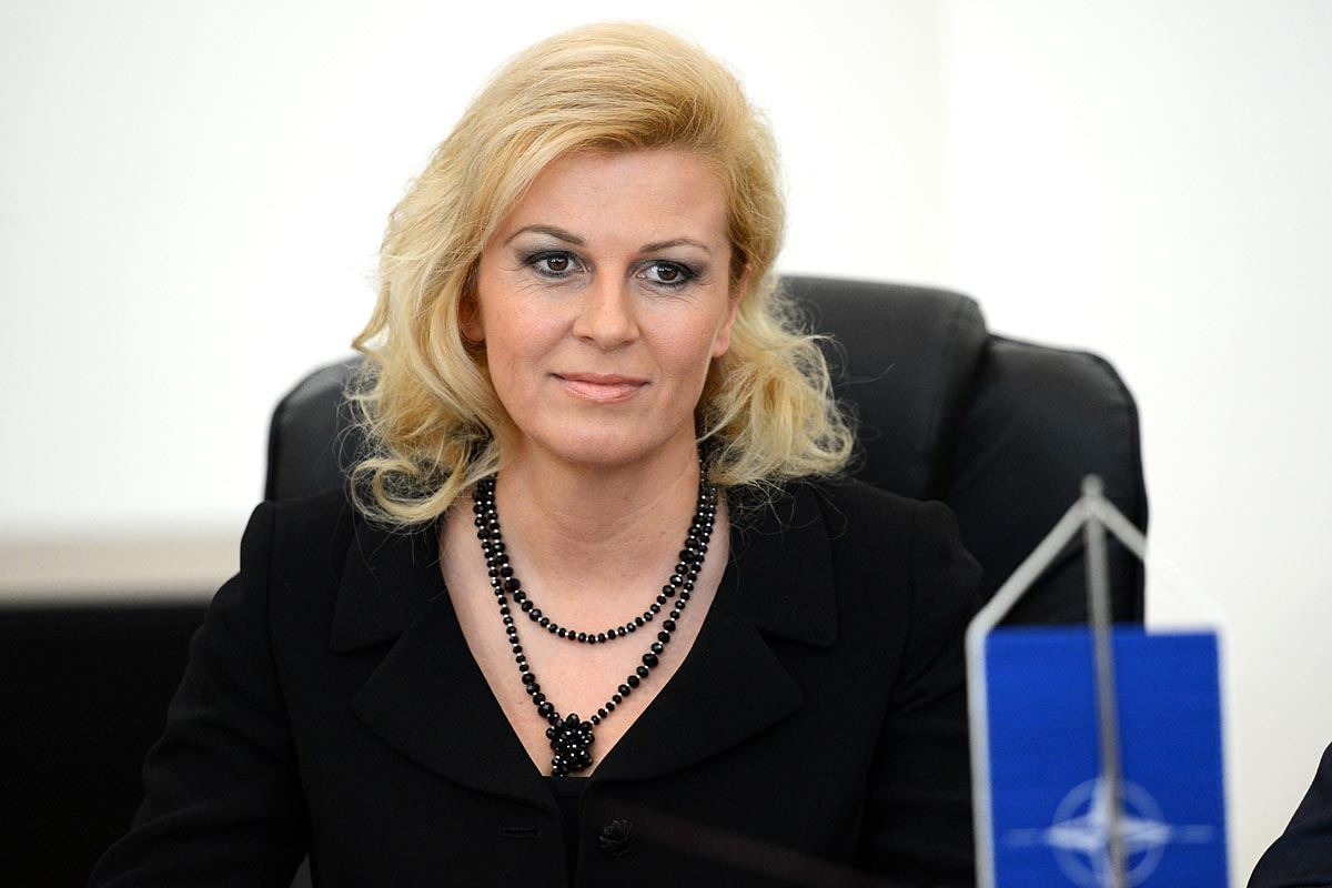 The 49-year old daughter of father Branko Grabar and mother Dubravka Grabar, 173 cm tall Kolinda Grabar-Kitarovic in 2018 photo