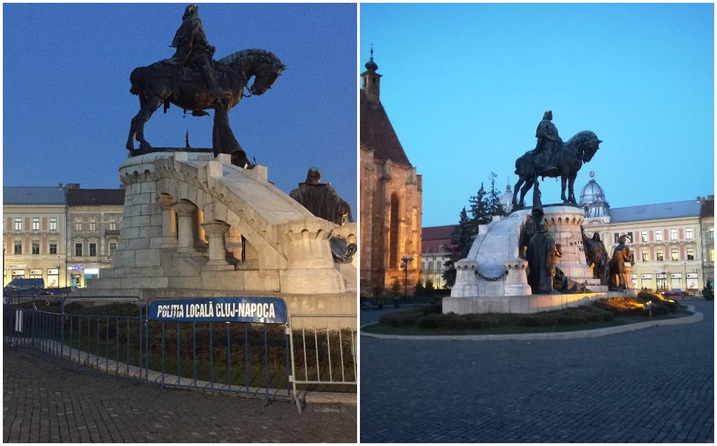 Vasárnap az igazságügyi törvényeket módosító tervezetek ellen szervezett tüntetések miatt elkerítették a szobrot, de hétfőn már eltűntek a kordonok.