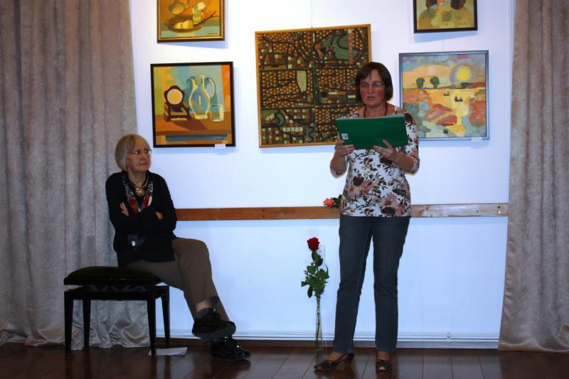 Cseh Katalin költő azokat a verseit olvasta fel, amelyeket sérült emberek ihlettek.