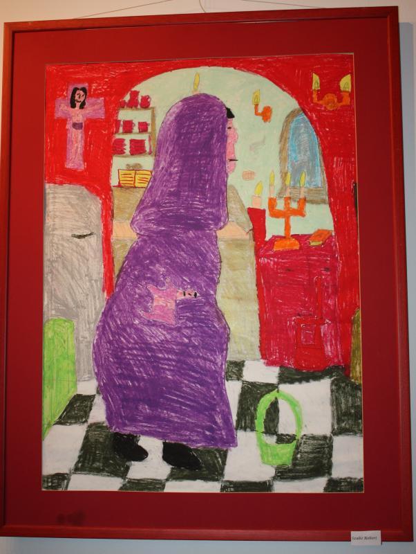 Az Írisz Ház egyik legtehetségesebb lakója, Szabó Róbert képei adták az Outsider Art verseny ötletét