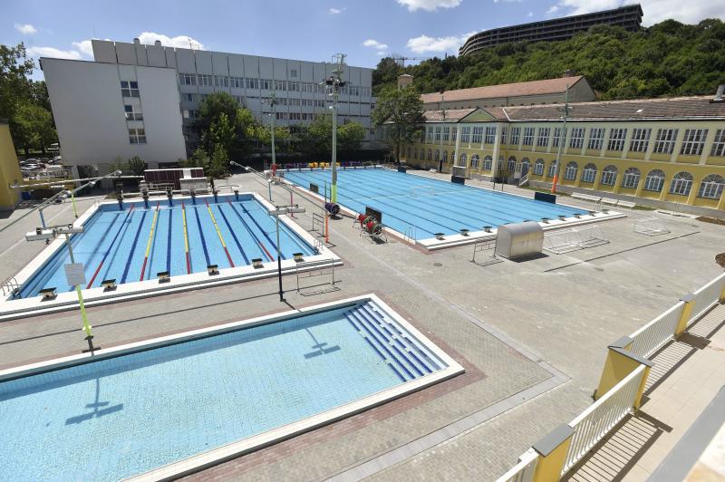 A 2017-es FINA vizes világbajnokság egyik edzőhelyszíne, a felújított Császár-Komjádi Sportuszoda