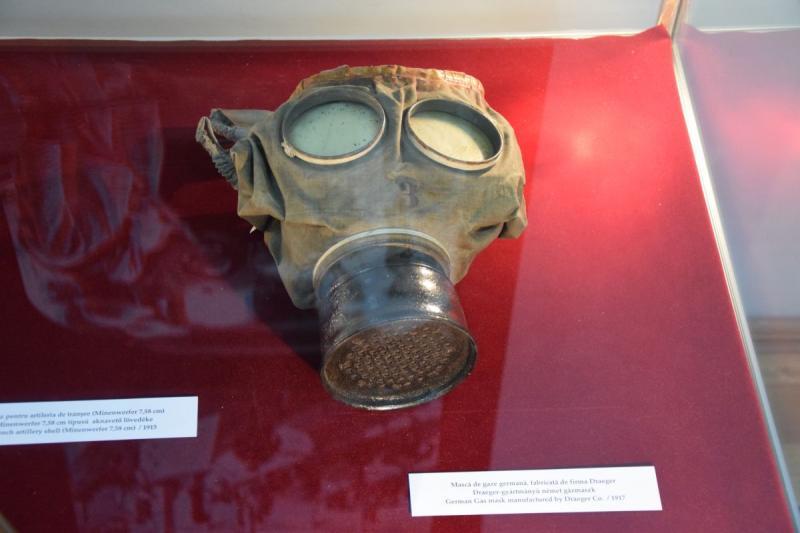 Első világháborús német gázmaszk az Erdélyi Történeti Múzeum gyűjteményéből