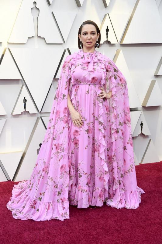 Maya Rudolph is a rózsaszínre voksolt az idei Oscar-gálán.