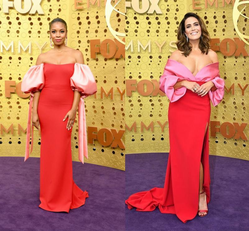 Hogy véletlenül, vagy tudatosan öltöztek mindketten piros-rózsaszín ruhába a This is us (Rólunk szól) színésznői, azt nem tudni, ám ragyogtak a lila szőnyeges gálán.