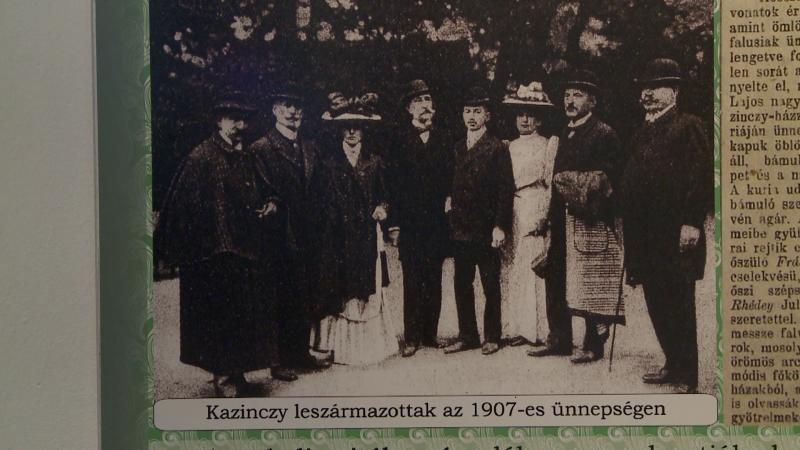 Plakát az 1907-es Kazinczy ünnepségekről, amelyen részt vettek a Kazinczy család leszármazottai