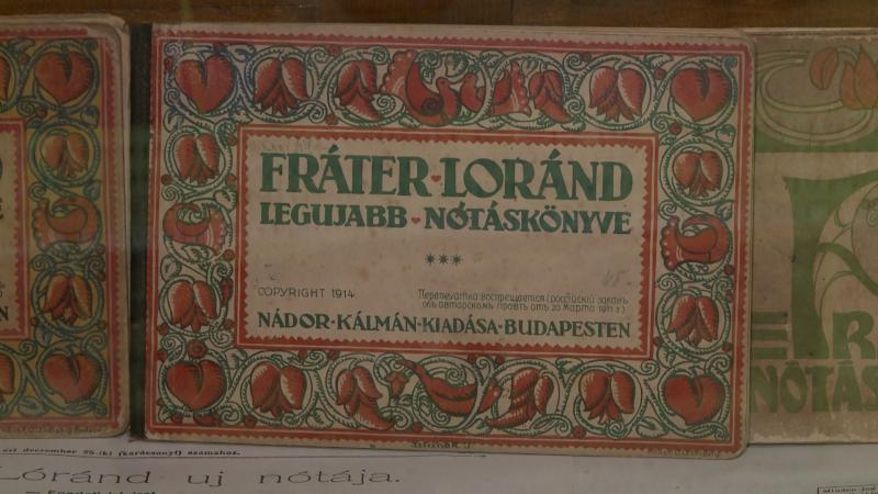 Fráter Lóránd nótáit tartalmazó kis kötet, amelyet Budapeste adtak ki 1914-ben