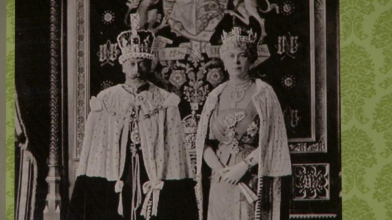 V. György és felesége Mary Teck hercegnő, aki rokonságban állott Fráter Lóránddal