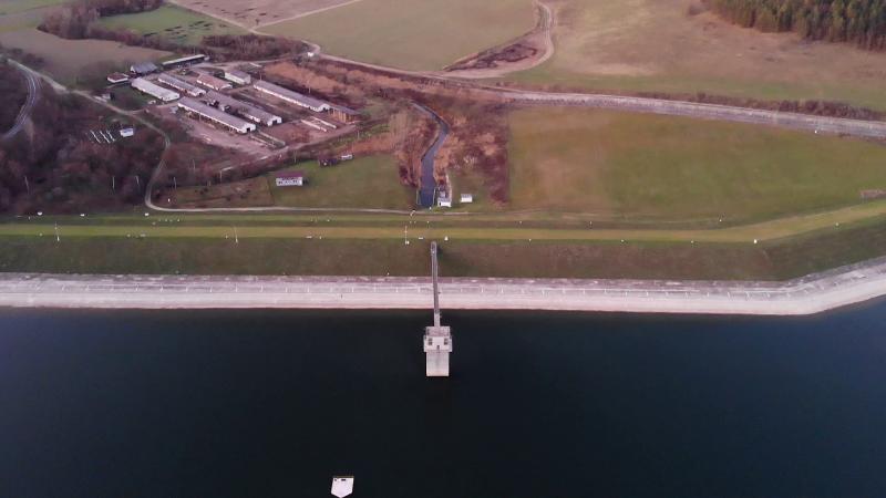 Drónfelvétel a víztározó egyik partszakaszáról
